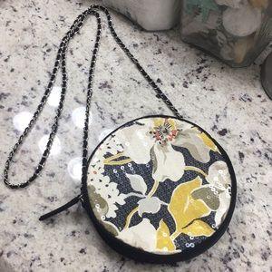 Vera Bradley crossbody black floral sequin purse.